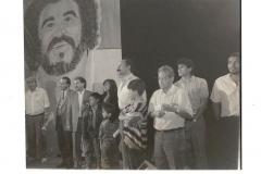 Acto de homenaje a Alí Primera junto a hijos y esposa, y el diputado Pedro Mosqueda