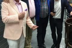 Con Guillermo Gonzalez, Reynaldo Armas y Javier Troconis