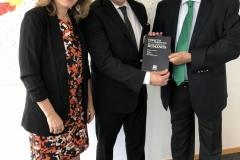 Con Luis Almagro y la profesora Mariela Morales, en presentación del libro Impacto de la Corrupción de los DDHH, en insituto Max Planck de Heidelberg
