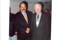 Con el ex presidente Jimmy Carter en Mesas de Dilogo realizadas en Caracas (2003)