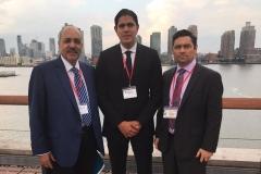 Con los dirigentes de VP Carlos Vecchio y Lester Toledo, en Reunión Internacional Socialista (NY - 2016)