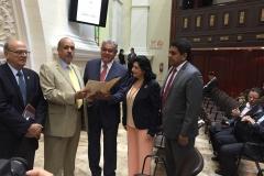 Con los juristas Roman Duque Corredor y Franklin Hoet, recibiendo sus propuestas sobre la Recuperación de Activos robados a Venezuela