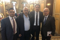 Junto a Carlos Vecchio, Antonio Ledezma y Lester Toledo, en rueda de prensa por la Democracia y Libertad de Venezuela (2019)