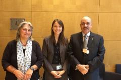 Junto a la directora del Parlamento de Alemania para América Latina (2018)