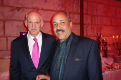 Junto al ex presidente de Grecia Yorgos Papandreu (Portugal - 2015)